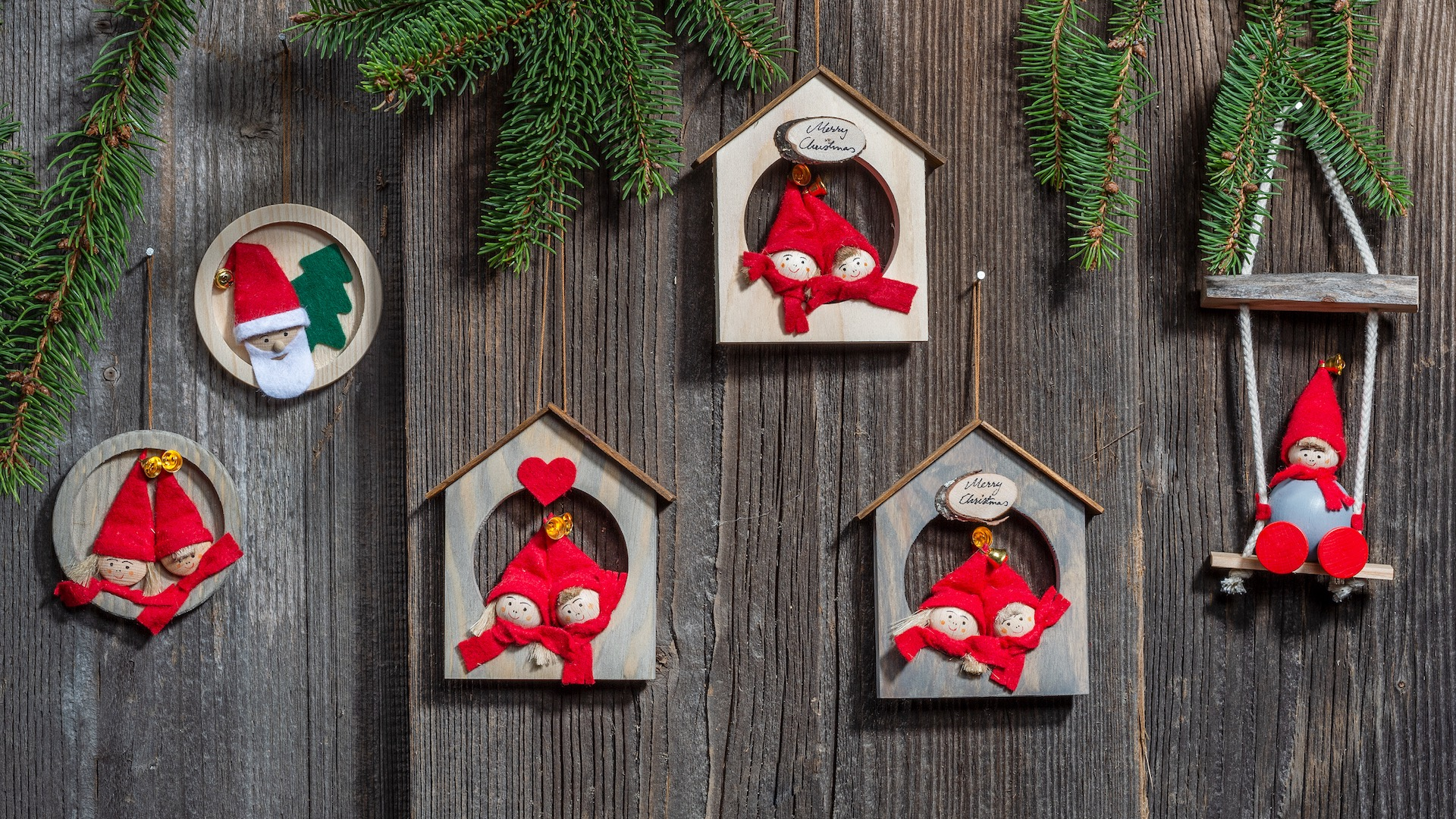 Handcrafted Hanging Christmas Decorations